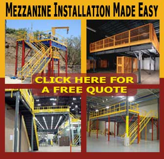 Mezzanine Design Installation For Storage Or Prefab