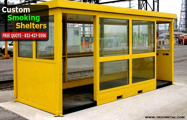 Prefabricated Bus Shelter : Custom smoking chelters g