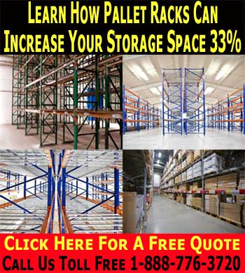 Commercial Pallet Racks Installed With FREE Space Design CAD Drawing